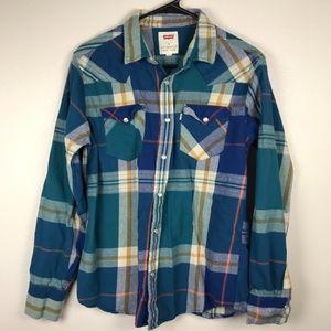 3/$20 Levis Plaid Flannel Button Down Shirt